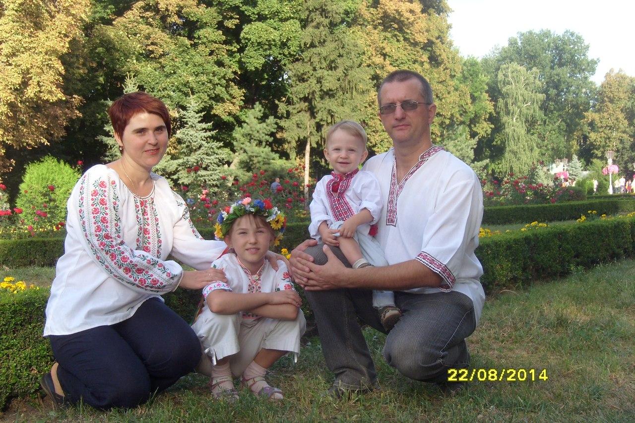 Владислав Кушніров з родиною
