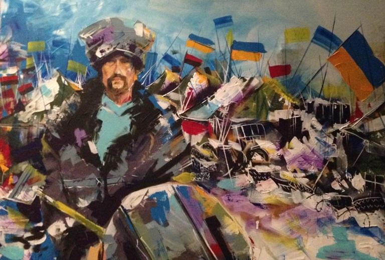"""Картина """"Предок"""", із серії робіт """"Кольори волі"""" художниці Марії Діордічук"""