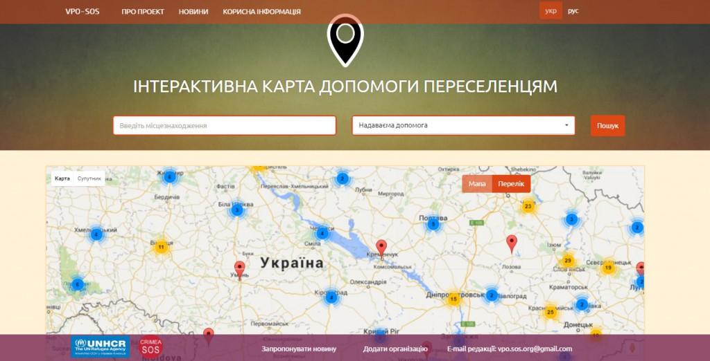 Головна сторінка сайту vpo-sos.org