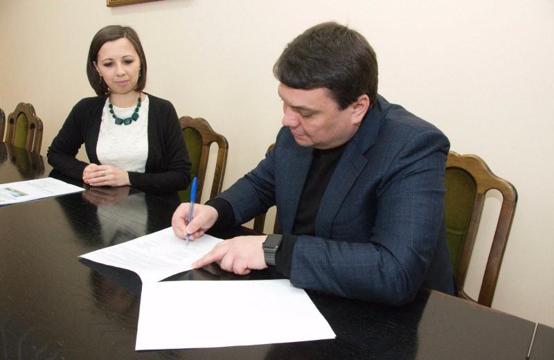 Юлія Городчаніна на підписанні Меморандуму про співпрацю з Полтавською ОДА
