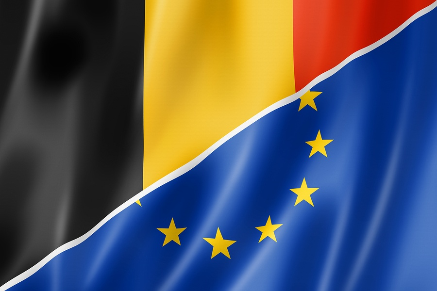 Belgium And Europe Flag
