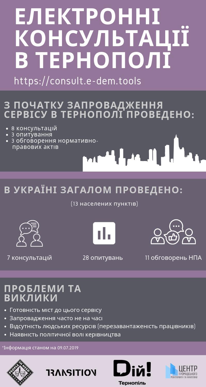 Інфографіка із е-консультацій у Тернополі