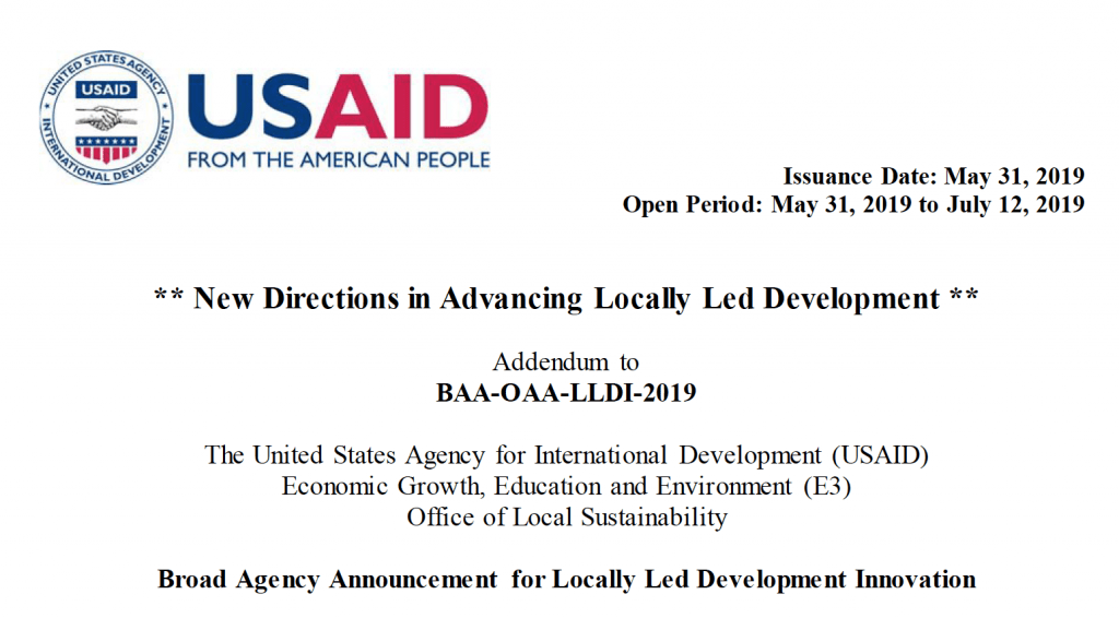 New Directions in Advancing Locally Led Development