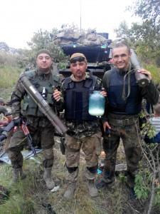 З побратимами з батальйону Айдар. Фото із сторінки Андрія Юркевича у соцмережі.