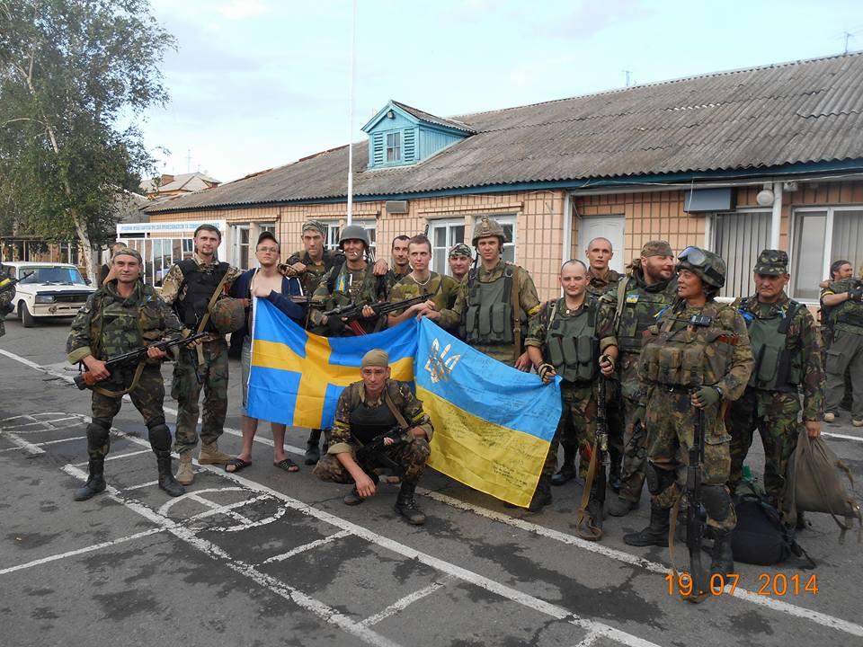 З побратимами з батальйону Айдар. Фото із сторінки Андрія Юркевича у соцмережі