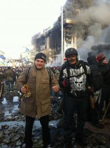 19 лютого на барикадах Майдану. Фото із особистого архіву Андрія Юркевича