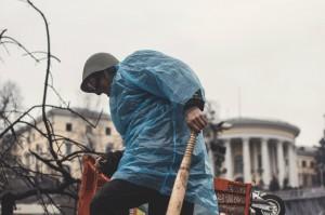 Андрій Юркевич 19 лютого на Майдані. Фото Іван Четвертак