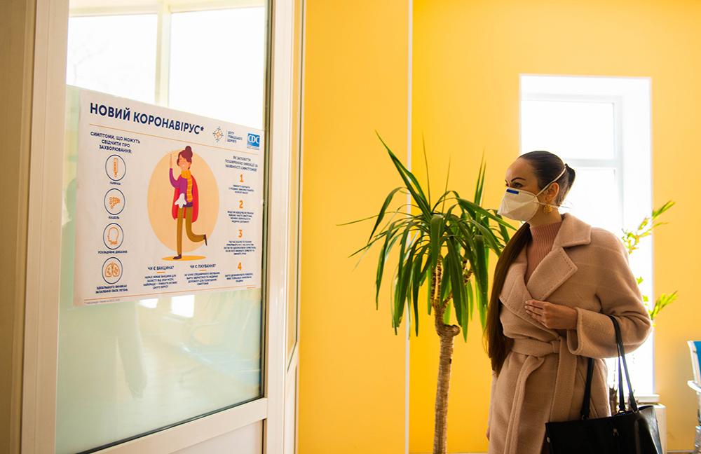 Інна Звездун в приміщенні університетської клініки Одеського медичного інституту Міжнародного гуманітарного університету