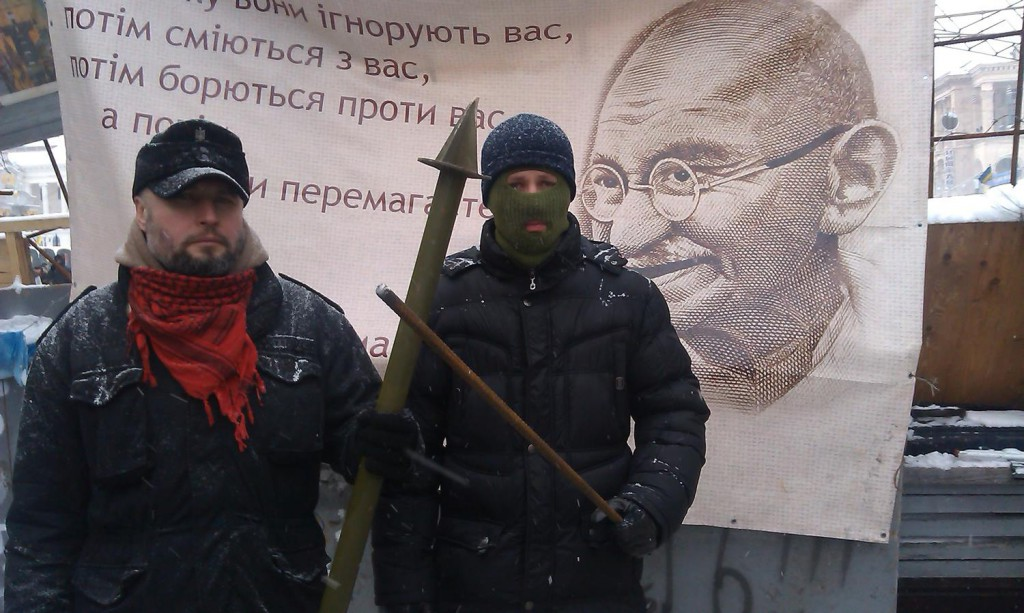 На Майдані. Фото із фейсбук сторінки Андрія Тирси