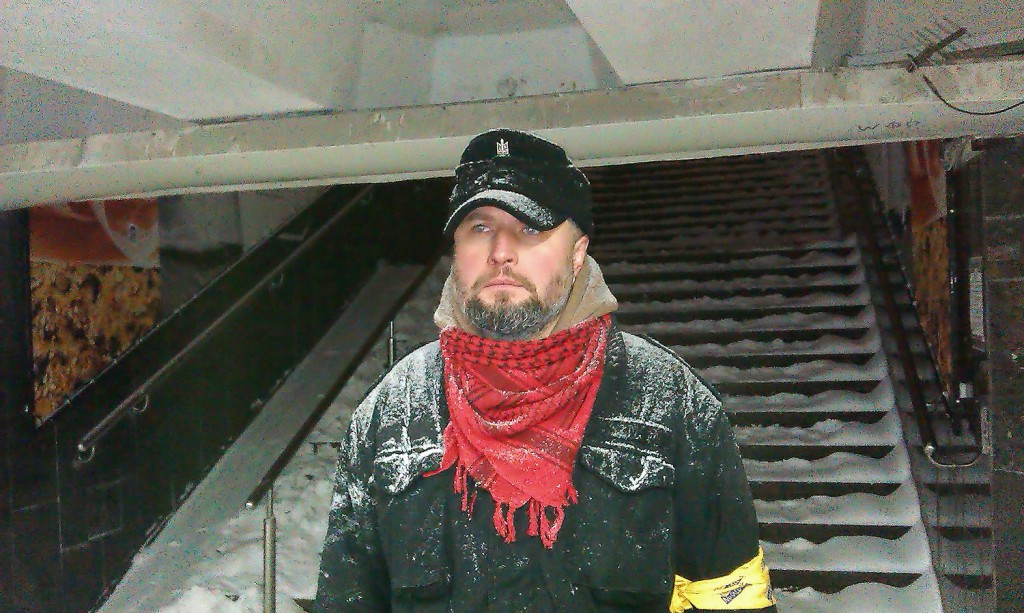 На чергуванні на Майдані. Фото з фейсбук сторінки Андрія Тирси