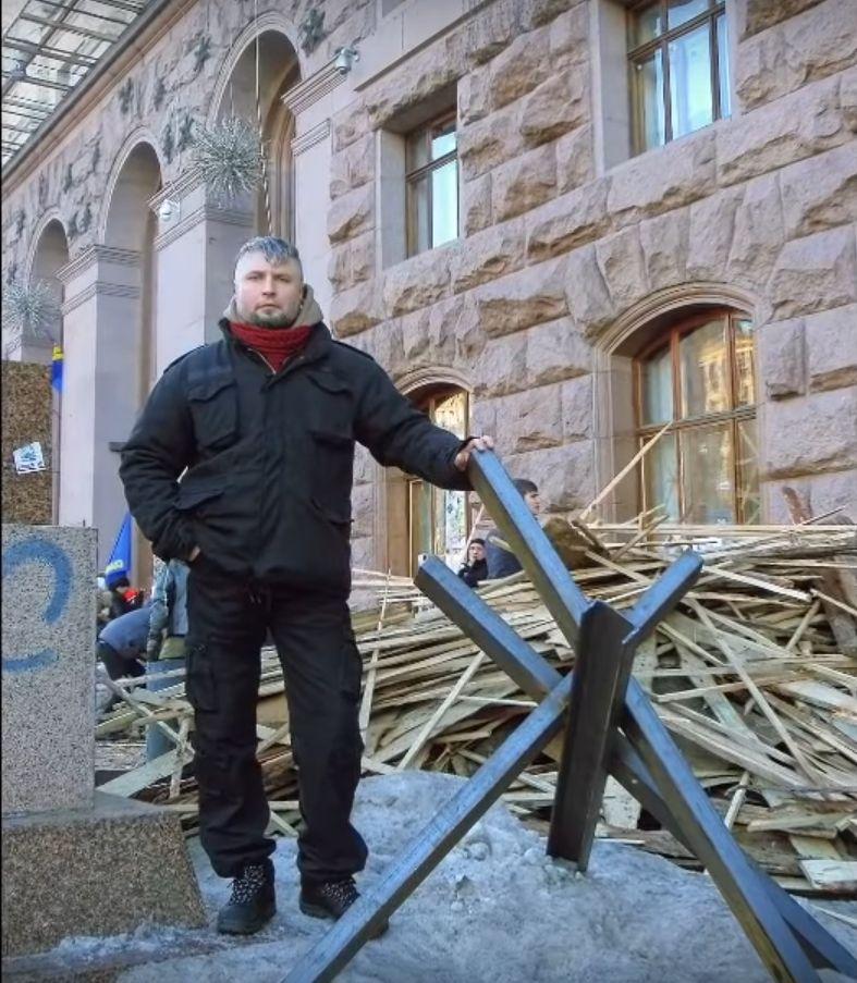 На барикадах біля КМДА. Скріншот з відео