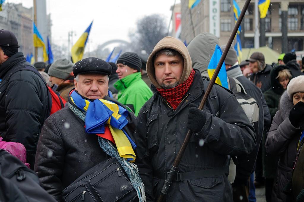 Ігор Сердюк на Майдані. Фото світлини: Андрій Тирса