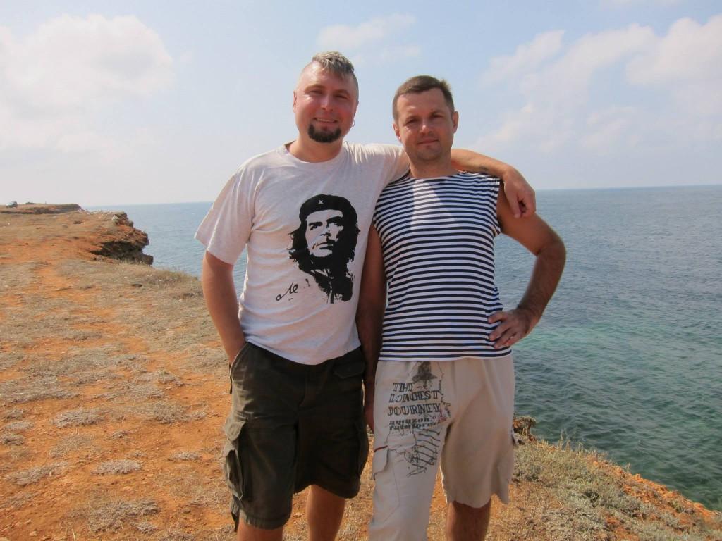 Ігор з товаришем на морі