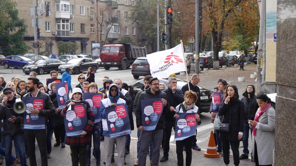 J&J Golbal Day of Action Protest: Kyiv, Ukraine