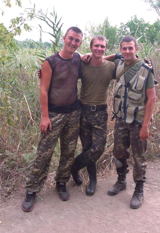 З побратимами на позиціях біля Донецька. 2014р