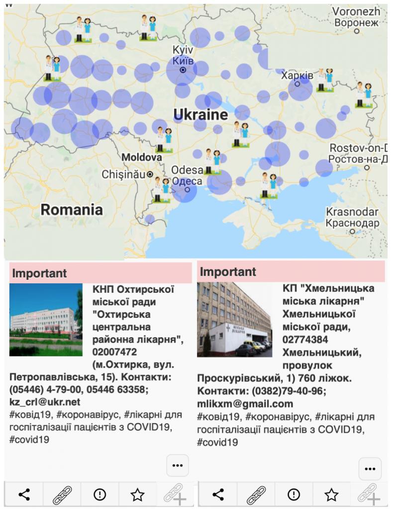 COVID-19 hospitals in Ukraine