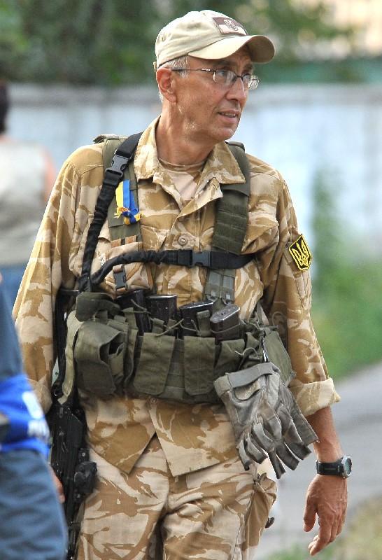 Маркіян Паславський - доброволець батальйону Донбас. Фото: Маркіян Лисейко.