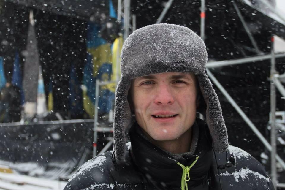 Ігор Луценко під час Революції Гідності. Фото: Ганна Грабарська.