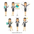 flat-selection-businesswoman-character-with-variety-facial-expressions_23-2147607965